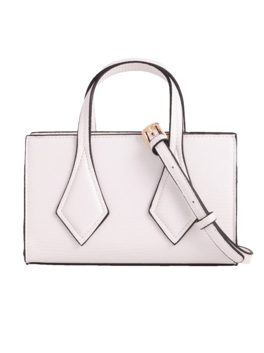 Small White Patterned Handbag