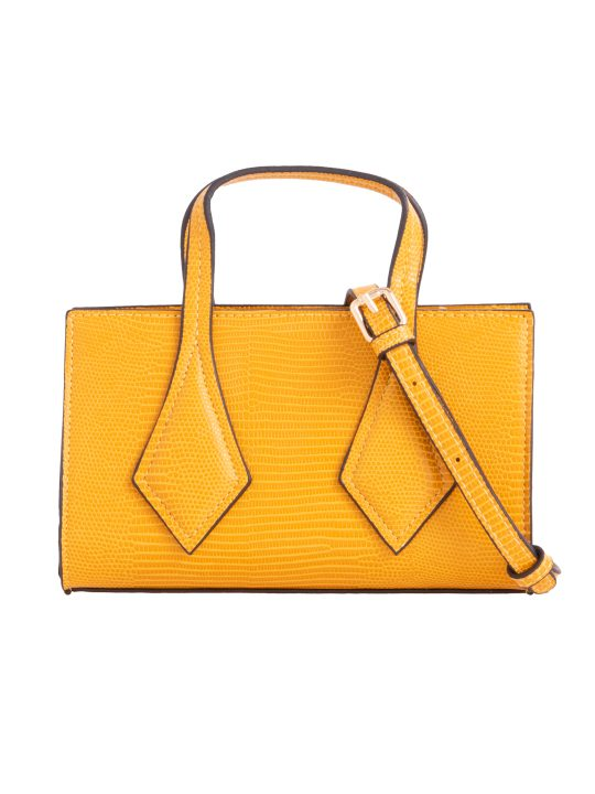 Small Yellow Patterned Handbag