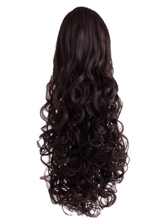 Curly Ponytail in Dark Brown