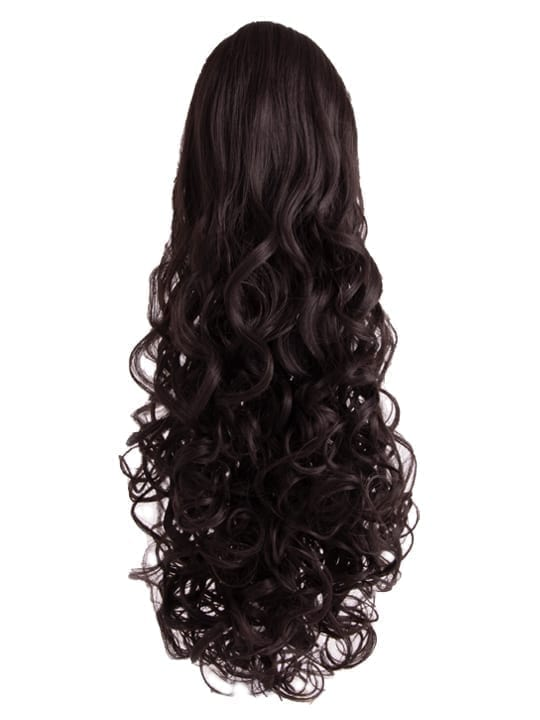 Curly Ponytail in Dark Brown