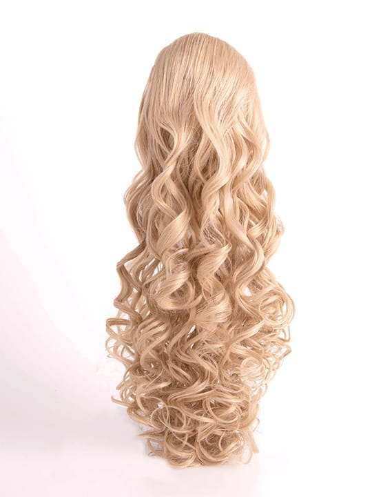 Curly Ponytail in Champagne Blonde