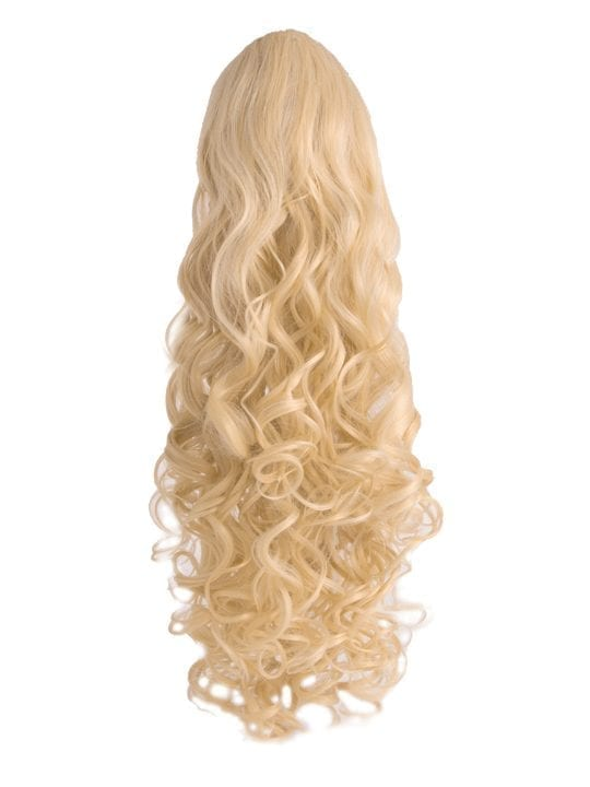 Curly Ponytail in Light Blonde