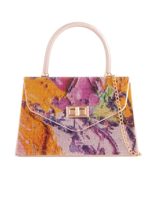Colourful Diamante Handbag