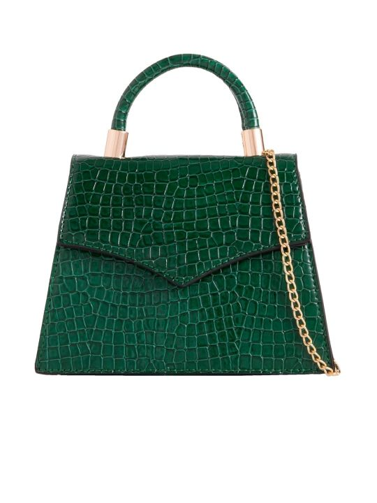 Green Crocodile Print Grab Bag