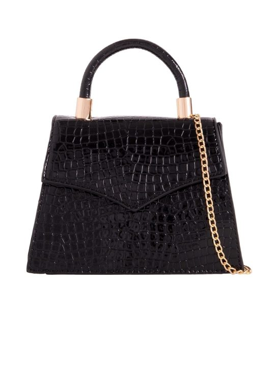 Black Crocodile Print Grab Bag