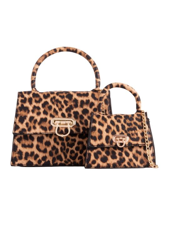 2 in 1 Leopard Print Shoulder Bag