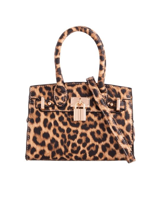Leopard Print Mini Shoulder Bag