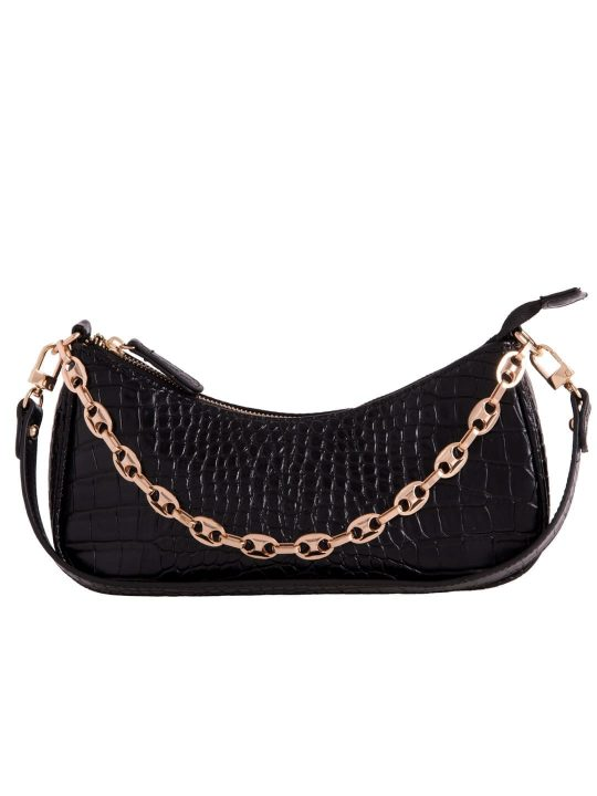 Black Vintage Chain Shoulder Bag