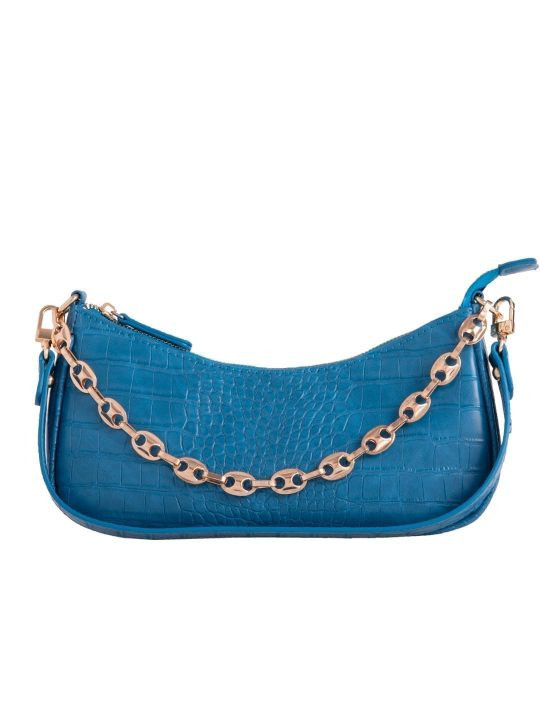 Blue Vintage Chain Shoulder Bag