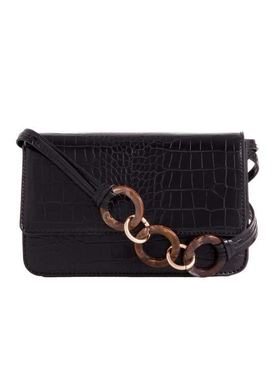 Black Envelope Shoulder Bag