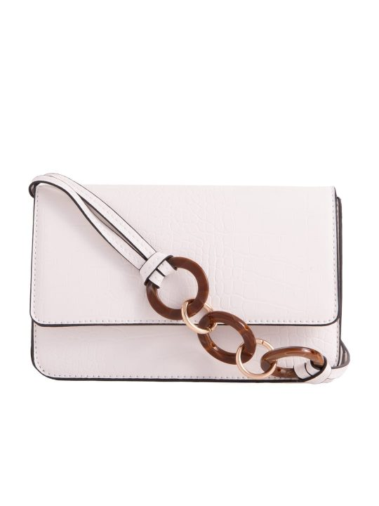 White Envelope Shoulder Bag