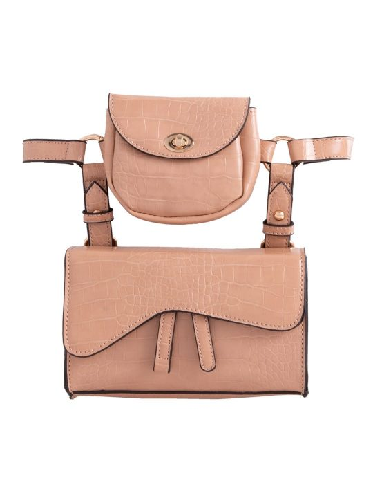 2 in 1 Shoulder Bag in Camel