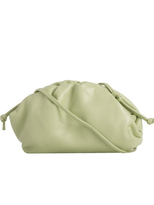Green Ruched Shoulder Bag