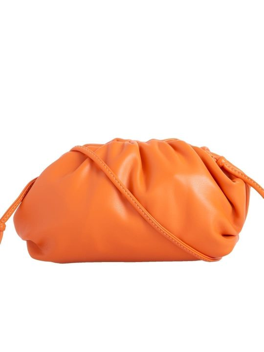 Orange Ruched shoulder bag