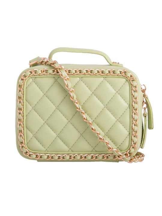 Green Quilted Box Bag