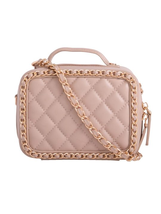 Pink Quilted Box Bag