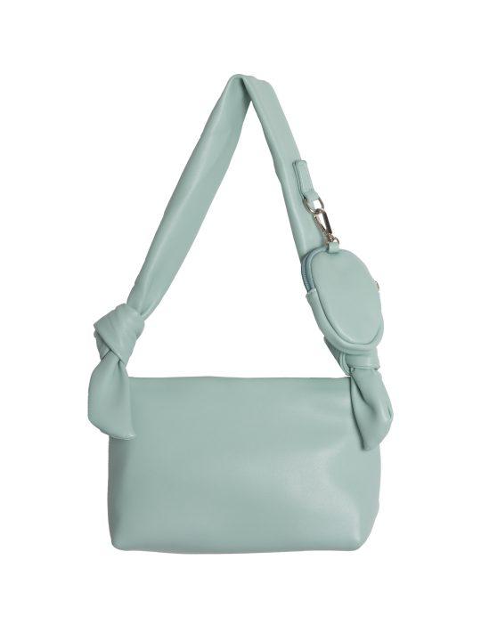 Green Tie Strap Shoulder Bag