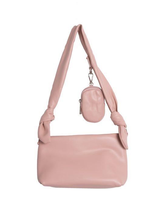 Pink Tie Strap Shoulder Bag