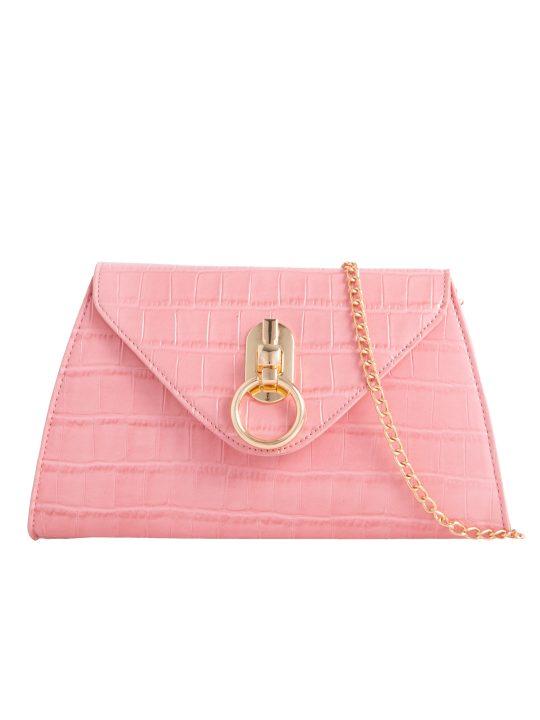Pink Pearl Handle Bag