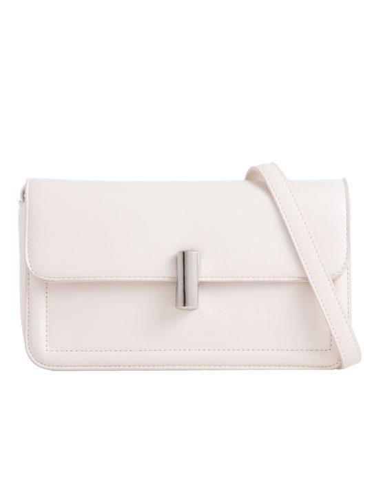 Beige Flap Shoulder Bag