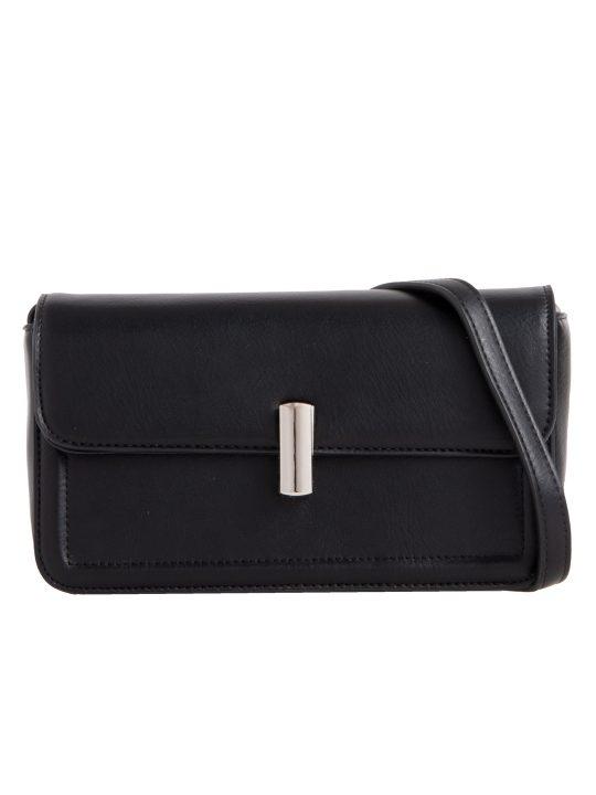 Black Flap Shoulder Bag