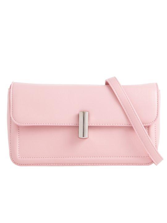 Pink Flap Shoulder Bag