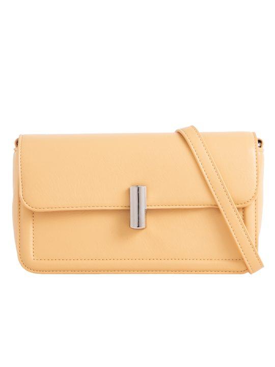Yellow Flap Shoulder Bag