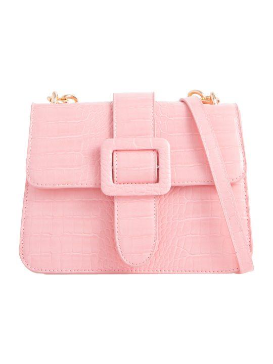 Pink Belt Detail Shoulder Bag