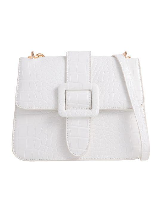 White Belt Detail Shoulder Bag