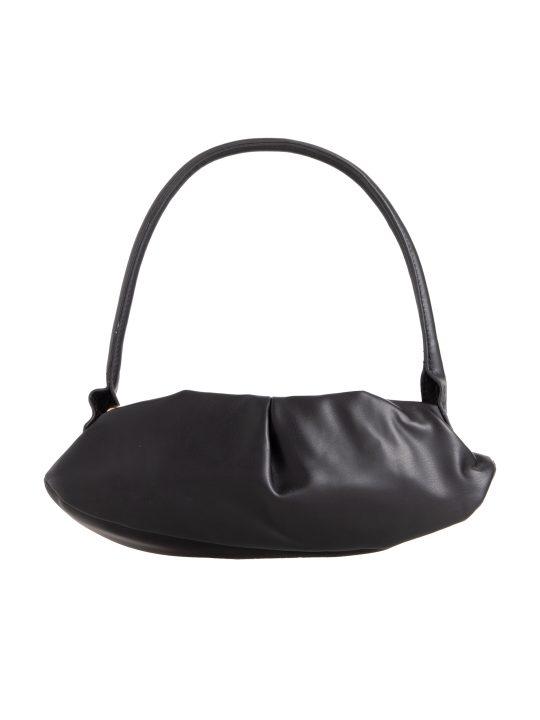 Black Ruched Handbag
