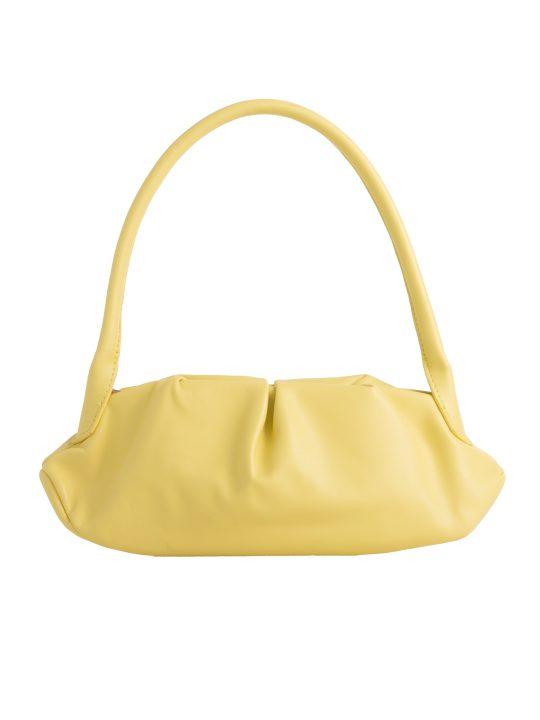 Yellow Ruched Handbag