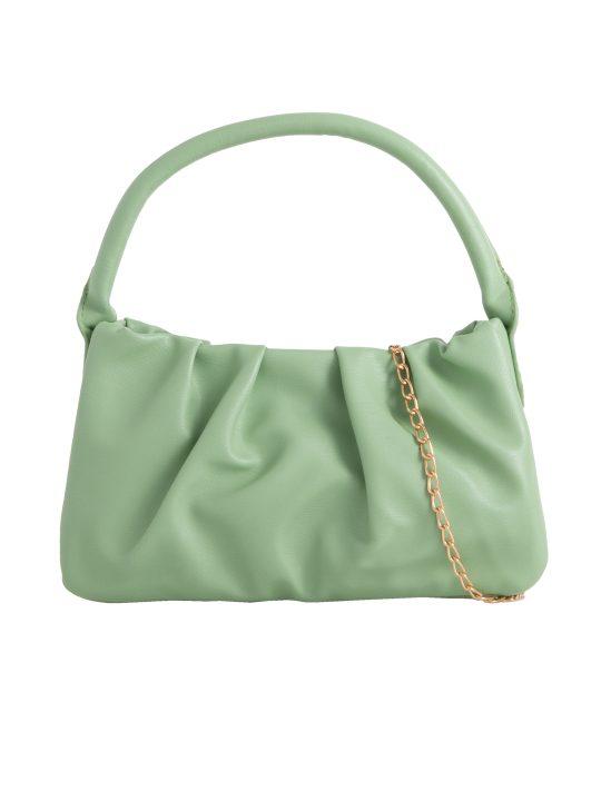 Green Ruched Handbag
