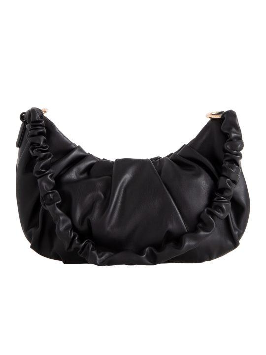 Black Ruched Handle Shoulder Bag