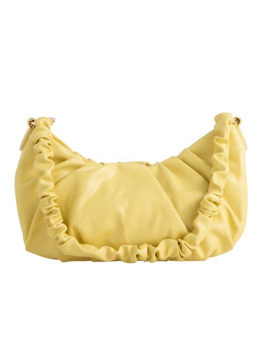 Yellow Ruched Handle Shoulder Bag
