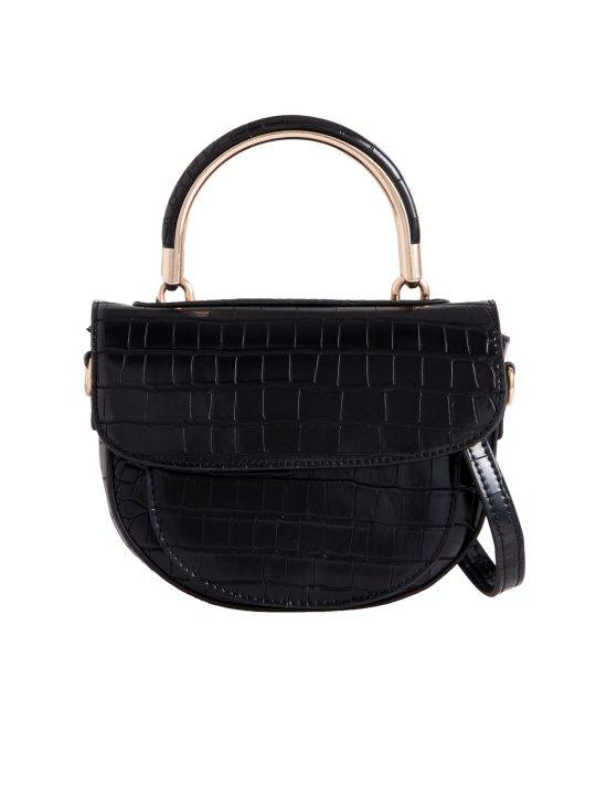 Black Top Handle Shoulder Bag