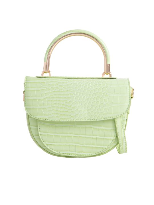 Green Top Handle Shoulder Bag