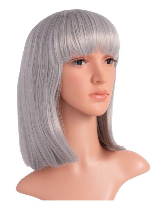 Grey Long Bob Party Wig