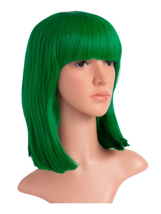 Apple Green Long Bob Party Wig