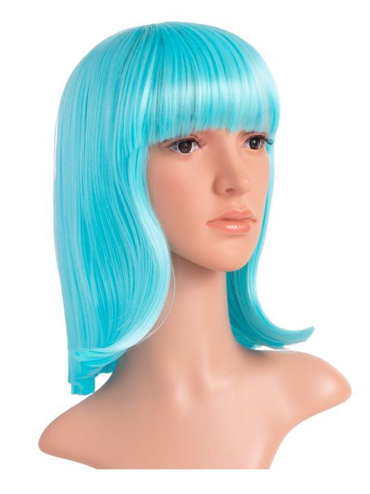 Lagoon Blue Long Bob Party Wig