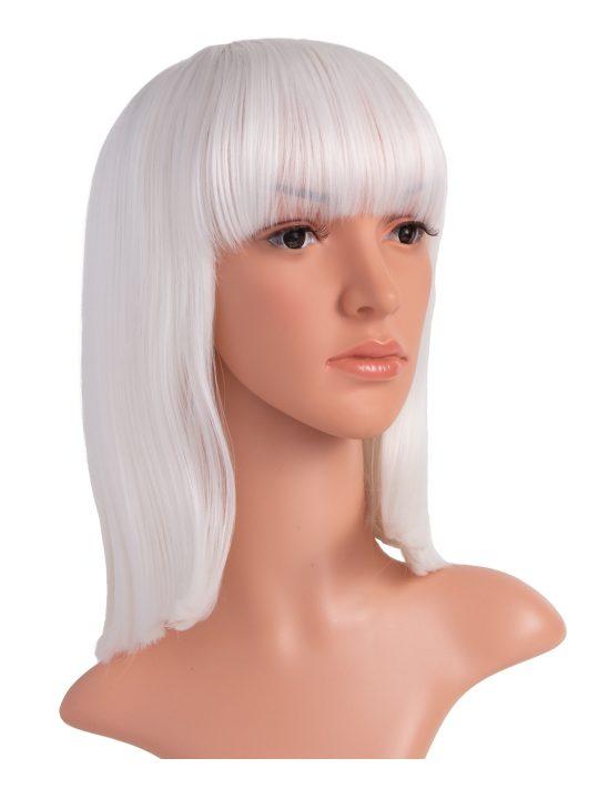 White Long Bob Party Wig