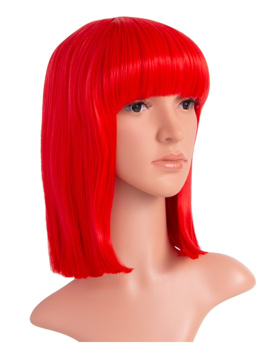 Red Long Bob Party Wig