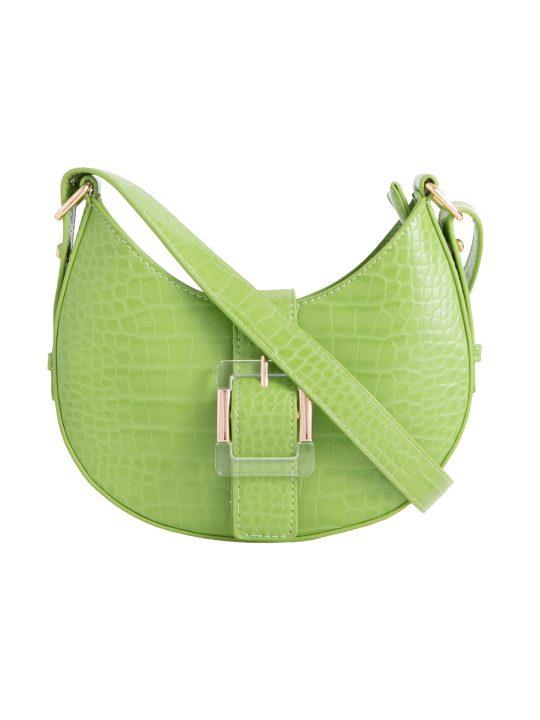 Green Buckle Shoulder Bag