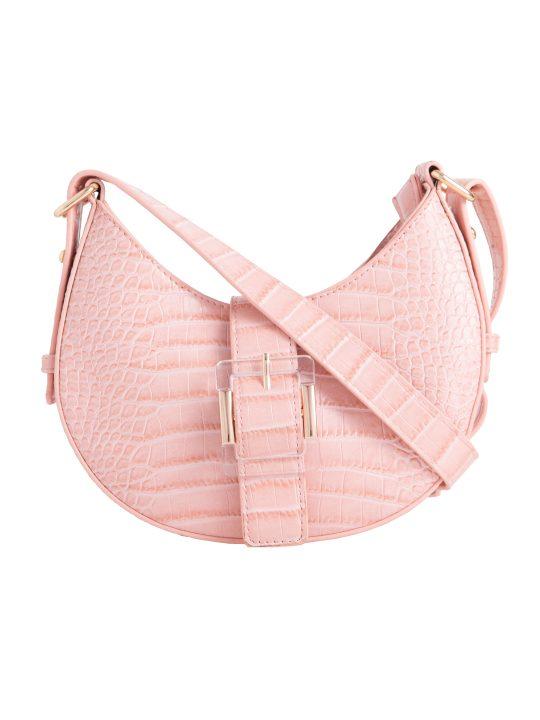 Pink Buckle Shoulder Bag