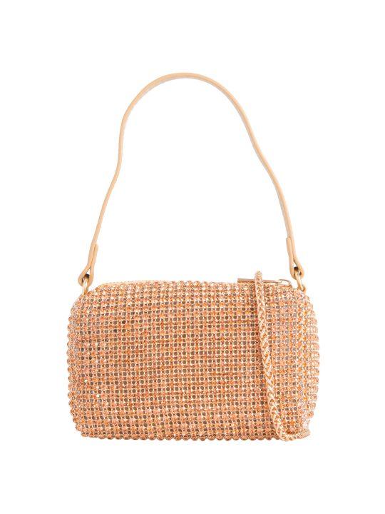 Small Champagne Gold Diamante Bag