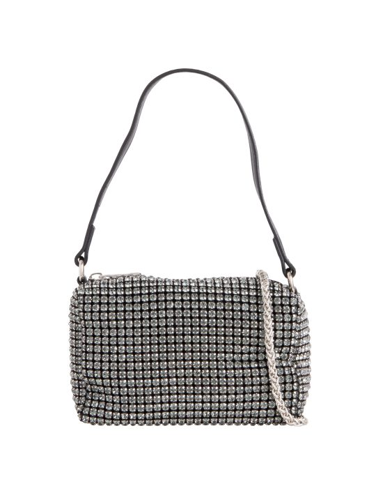 Small Grey Diamante Bag