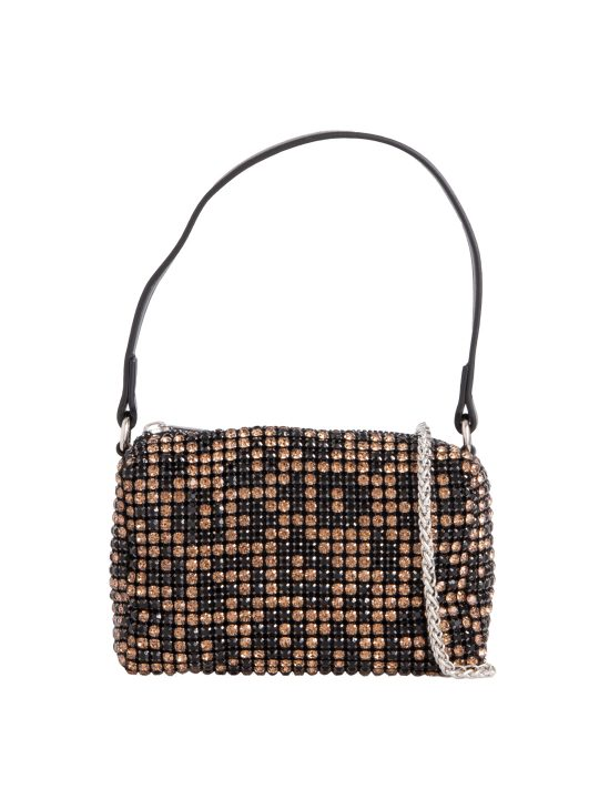 Small Leopard Print Diamante Bag