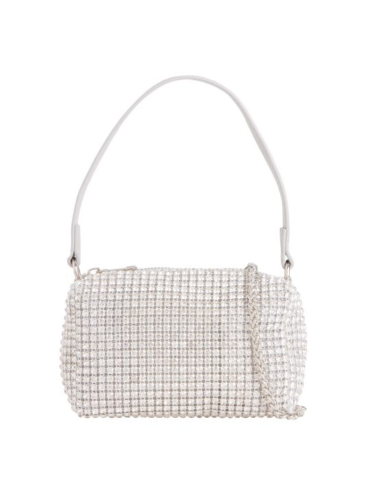 Small Silver Diamante Bag