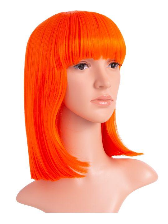 Orange Long Bob Party Wig