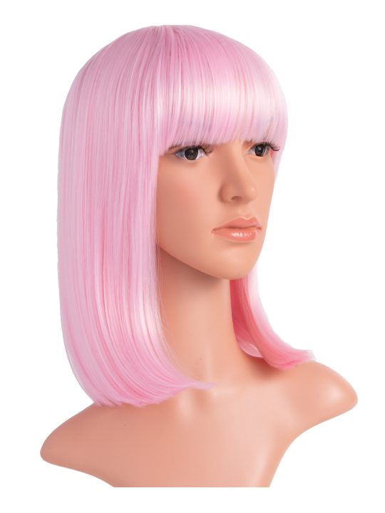 Baby Pink Long Bob Party Wig