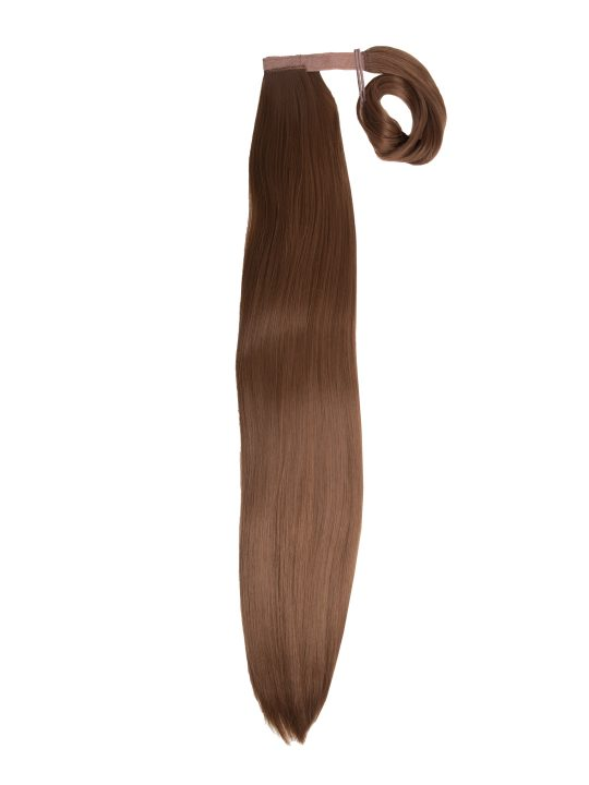 26 Inch Straight Golden Brown Wraparound Ponytail